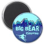 Big Bear California teal blue ski magnet