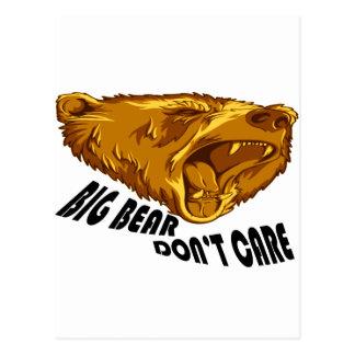 Big Bear Don't Care Postcard