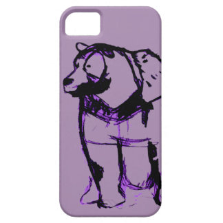 big bear in grape iPhone SE/5/5s case