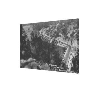 Big Bear Lake, CA Highway Above the Dam Stretched Canvas Prints