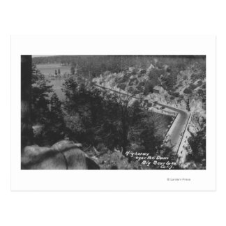 Big Bear Lake, CA Highway Above the Dam Postcard