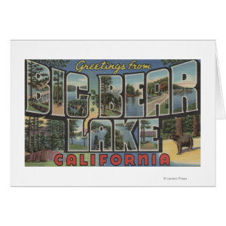 Big Bear Lake, California - Large Letter Scenes 2 Card