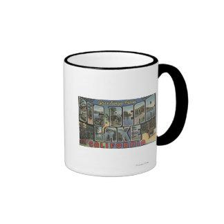Big Bear Lake, California - Large Letter Scenes 2 Coffee Mugs