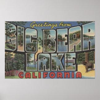 Big Bear Lake, California - Large Letter Scenes 2 Poster