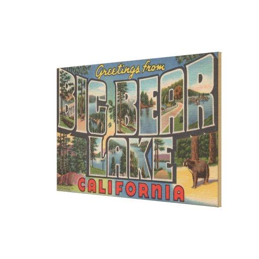 Big Bear Lake, California - Large Letter Scenes Canvas Print