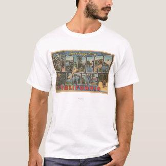 Big Bear Lake, California - Large Letter Scenes T-Shirt