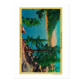 Big Bear Lake View on Rim o' The World Drive Postcard