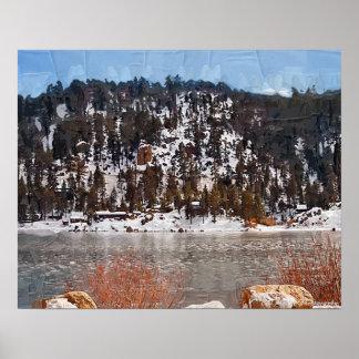Big Bear Lake, Winter Snow Poster