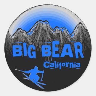 Big Bear Mountain California blue ski stickers