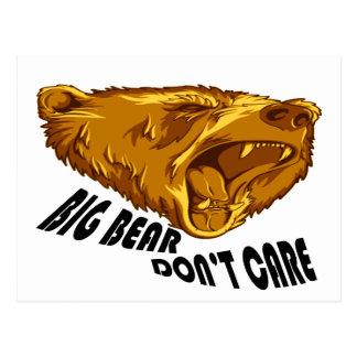 Big Bear no cuida Tarjeta Postal