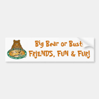 Big Bear or Bust! Bumper Sticker