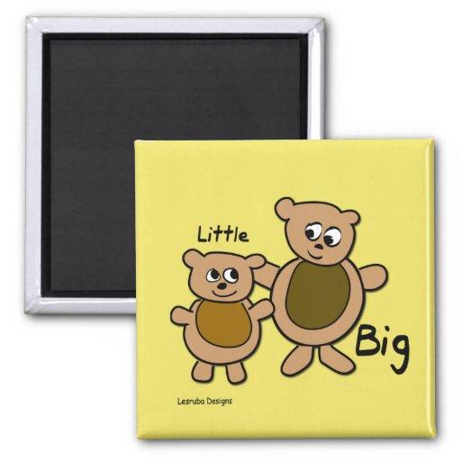 Big Bear poco oso Imán Cuadrado