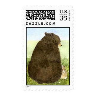 Big Bear y poco sello del conejito