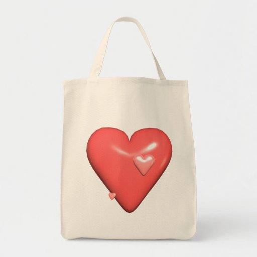 Big Beating Heart Grocery Tote Bag