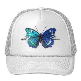 Big Beautiful  Blue Butterfly Trucker Hat