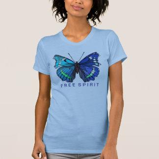 Big Beautiful  Blue Butterfly T-Shirt