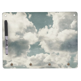 Big Beautiful Clouds Dry Erase Board With Keychain Holder
