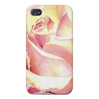 Big Beautiful Pink Rose Watercolor iPhone 4/4S Case