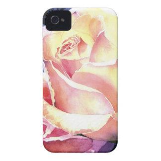 Big Beautiful Pink Rose Watercolor iPhone 4 Cover