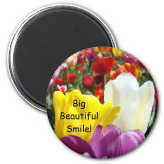Big Beautiful Smile! magnets Tulip Flowers