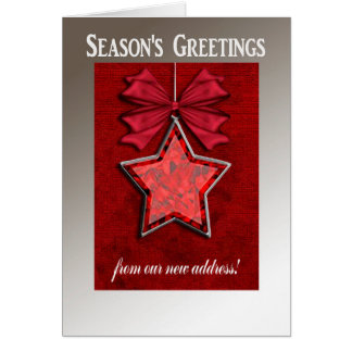 Big Beautiful Star, Christmas Red Greeting Cards