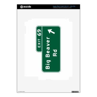 Big Beaver Road, Road Sign, Michigan, USA Decal For iPad 3
