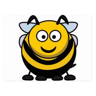 big bee boy postcard