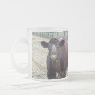 Big_Beefy_Brown_Cow,_Frosted_Glass_Beer_Mug. Frosted Glass Coffee Mug