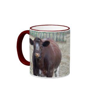 Big_Beefy_Brown_Cow,_Maroon_Ringer_Mug. Ringer Mug