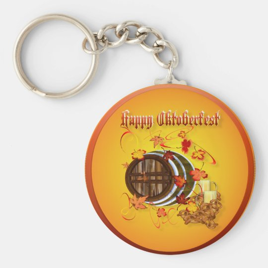 Big Beer-Happy Oktoberfest Keychains