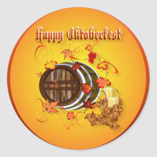 Big Beer-Happy Oktoberfest Stickers