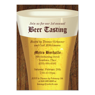 Big Beer Tasting Party Invitation