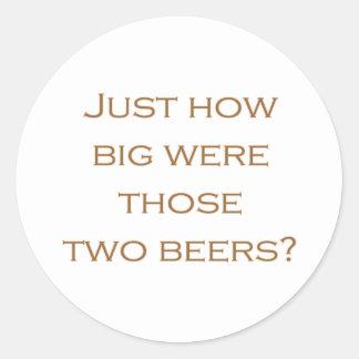 Big Beers Classic Round Sticker