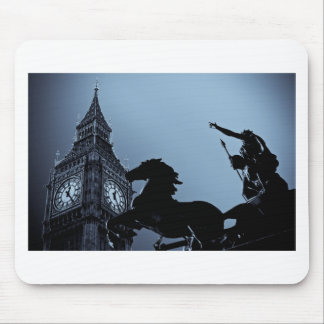 Big Ben and Boudica Statue Mouse Pad
