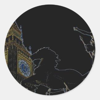 Big Ben and Boudica statue Stickers