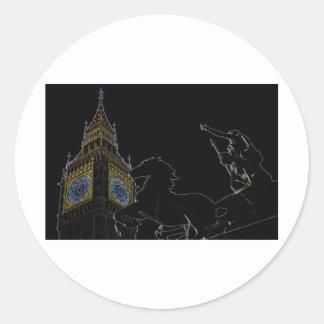 Big Ben and Boudica statue Sticker