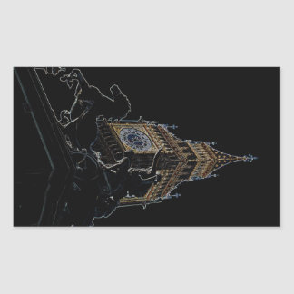 Big Ben and Boudica Statue Rectangle Sticker
