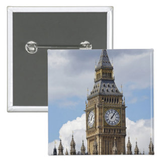 Big Ben and Houses of Parliament, London, Pinback Button