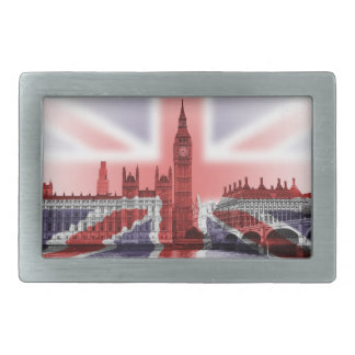 Big Ben and Houses of Parliament, Union Jack Belt Buckles