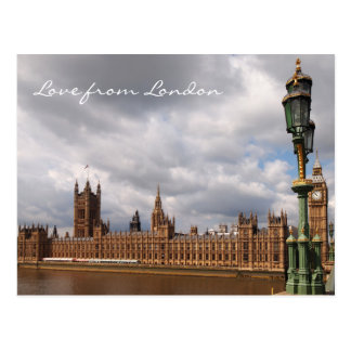 Big Ben and Parliament Love from London postcard