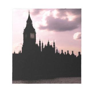 Big Ben and Parliament Memo Pads