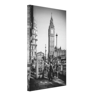 Big Ben and Parliament Square in London Canvas Print
