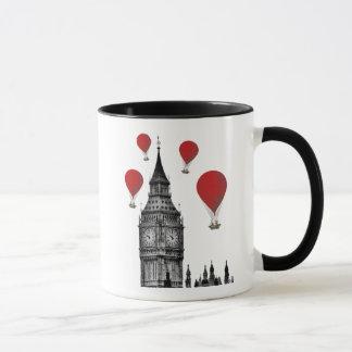Big Ben and Red Hot Air Balloons Mug