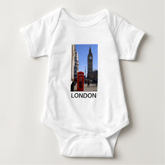 Big Ben and Red Telephone box in London Baby Bodysuit
