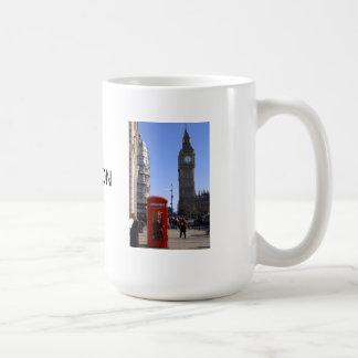 Big Ben and Red Telephone box in London Coffee Mugs