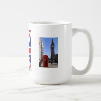 Big Ben and Red Telephone box in London Mugs