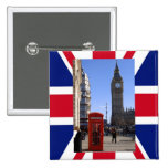 Big Ben and Red Telephone box in London Pin