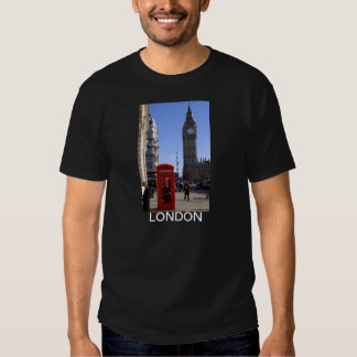 Big Ben and Red Telephone box in London T Shirt