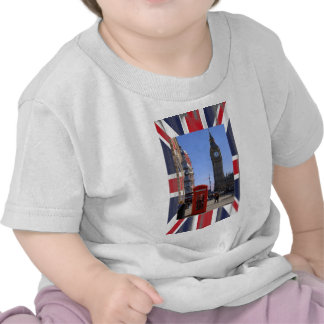 Big Ben and Red Telephone box in London Tees
