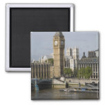 Big Ben and Thames River 2 Inch Square Magnet